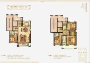 万科・学院路七号4室2厅4卫190平方米户型图