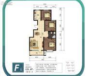 金山九泷湾3室2厅1卫121平方米户型图