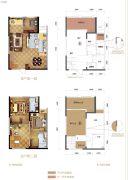 力帆红星国际广场紫郡1室2厅2卫91平方米户型图