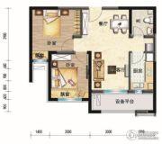 碧桂园・学府壹号2室2厅1卫72平方米户型图