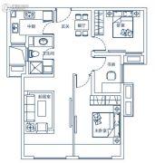 东润玺城3室2厅1卫83平方米户型图