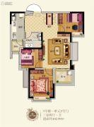 恒大丁香郡3室2厅1卫0平方米户型图