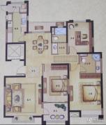 风尚米兰3室2厅2卫140平方米户型图