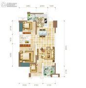 华联城3室2厅1卫93平方米户型图