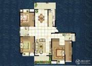 世茂香槟湖3室2厅2卫164平方米户型图