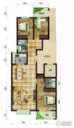 帝王国际3室2厅2卫135平方米户型图