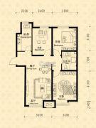 中东凯悦公馆3室2厅1卫95--105平方米户型图