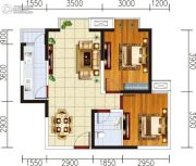 宏府�d翔九天2室2厅1卫73平方米户型图