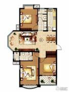 齐鲁涧桥3室2厅2卫125平方米户型图