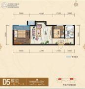 腾业・国王镇1室1厅1卫53平方米户型图