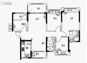雅居乐・融创・三江府3室2厅2卫110平方米户型图