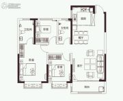 开元壹号3室2厅2卫123平方米户型图