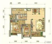 七彩云南第壹城2室2厅1卫92--93平方米户型图