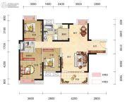 博大星光国际3室2厅2卫118平方米户型图