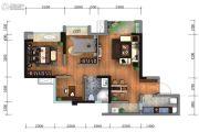 蓝光金悦派3室2厅1卫78平方米户型图