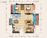 天立・学府华庭3室2厅1卫87平方米户型图