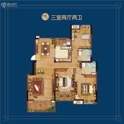 万科蓝山3室2厅2卫118平方米户型图