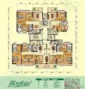 天鹅湾3室2厅2卫84--114平方米户型图