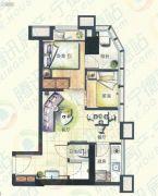 宁德大润发国际广场2室2厅1卫53平方米户型图