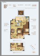 天阳尚景国际二期3室2厅2卫89平方米户型图