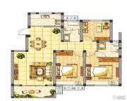 皇山华府3室2厅2卫0平方米户型图