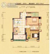 东方名城2室2厅1卫90平方米户型图