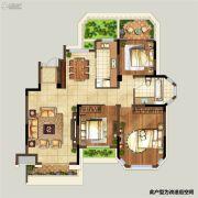 弘阳上湖3室2厅1卫104平方米户型图
