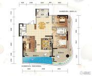 大都金沙湾3室2厅2卫161平方米户型图