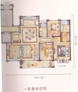 中梁温岭印象4室3厅3卫162平方米户型图