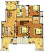 金城华府3室2厅2卫143平方米户型图