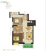 保利・心语花园3室2厅1卫93平方米户型图