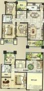 绿都万和城4室2厅2卫209平方米户型图