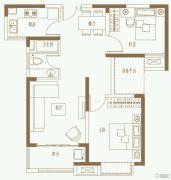 利港银河广场2室2厅1卫89平方米户型图