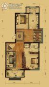 泰和地中海2室2厅1卫130平方米户型图