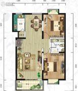 紫韵东城2室2厅1卫91平方米户型图