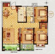 永信伯爵山3室3厅1卫106平方米户型图