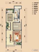 浪琴湾2室0厅1卫82平方米户型图