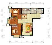 星光华印象3室2厅1卫80平方米户型图