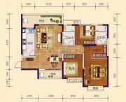 恒大御府3室2厅2卫128平方米户型图