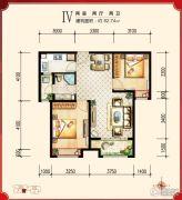 绿宸万华城2室2厅2卫82平方米户型图