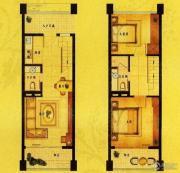 风尚米兰2室2厅2卫50平方米户型图