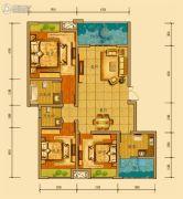 金鸿城三期归谷3室2厅2卫109平方米户型图