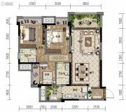 金地自在城3室2厅2卫82--99平方米户型图