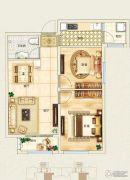 东郦湖2室2厅1卫87平方米户型图
