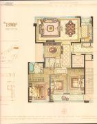 华鸿万墅3室2厅2卫139平方米户型图