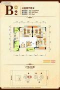 康隆・财富旺角3室2厅2卫112平方米户型图