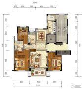 东泰・春江名园3室2厅2卫142平方米户型图