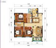 新时代广场3室2厅2卫130平方米户型图