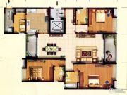 东田翠湖湾二期3室2厅3卫0平方米户型图