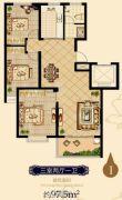 日百・市北依河园3室2厅1卫97平方米户型图